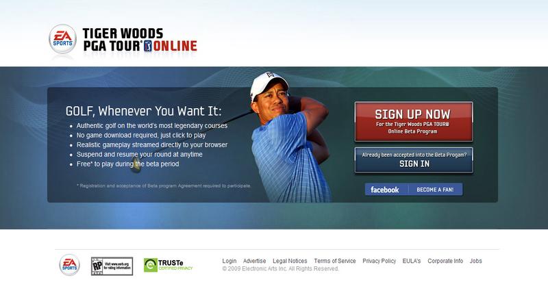 Beta Testy Tiger Woods PGA Tour Online rozpoczęte