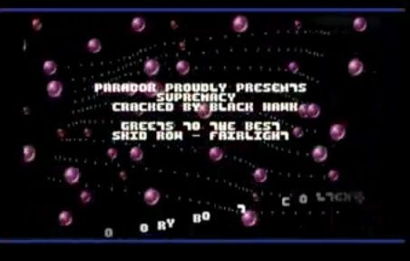 Crack intro - Supremacy by Paradox (Amiga)