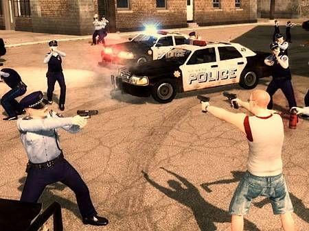Saints Row 2  - gameplay z 2 poziomu