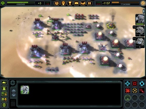 Supreme Commander 2 - gameplay (zmasowny atak)