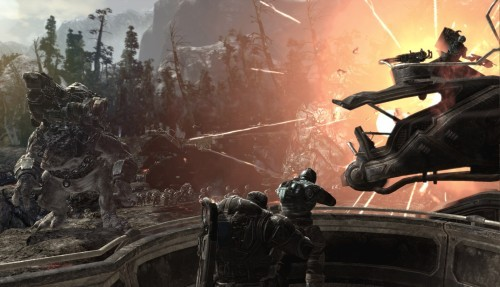 Gears of War 2 - gameplay z misji Giant Riftworm