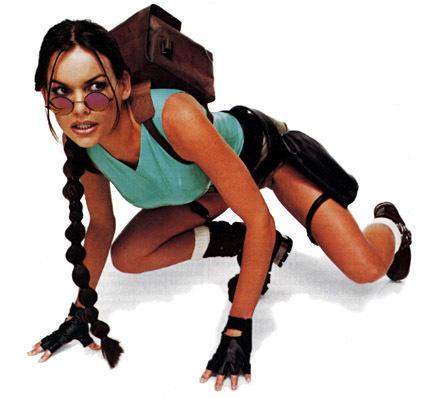 Sesja zdjęciowa z modelką grającą Larę Croft - sexi!