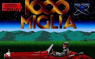 1000 Miglia - gameplay (DOS)