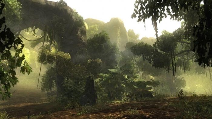 Risen - gameplay (widoki ze szczytu wulkanu)