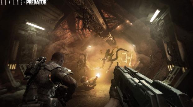 Aliens vs Predator - gameplay (początek gry & intro)