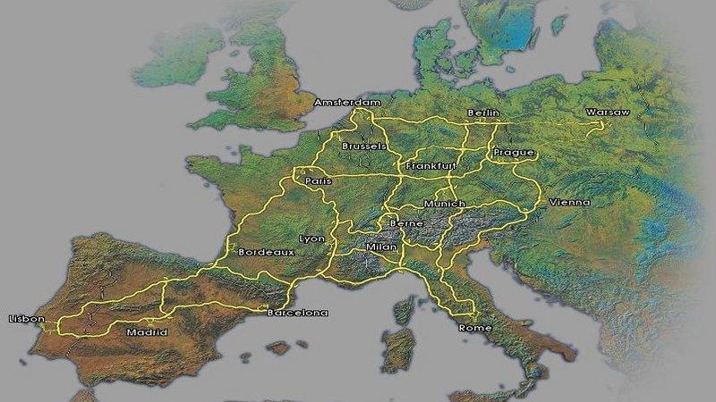 Euro Truck Simulator (PC) - Nawigacyjna mapa satelitarna
