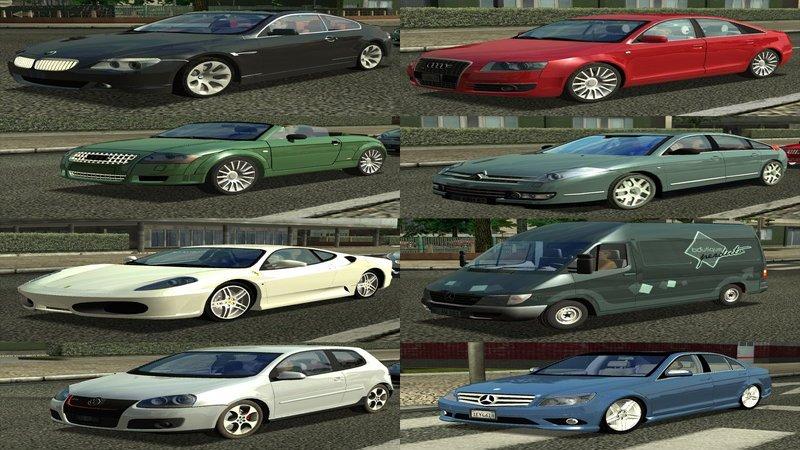 Euro Truck Simulator (PC) - Zestaw samochodów dla AI