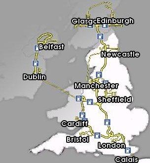 Euro Truck Simulator (PC) - Mapa Wielkiej Brytanii v2.1