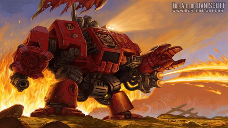 Warhammer 40k - animacja Dreadnought'a