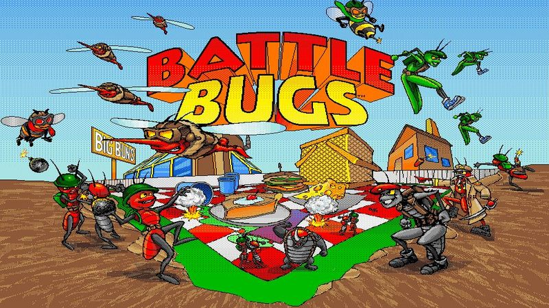 Battle Bugs - gameplay (DOS)