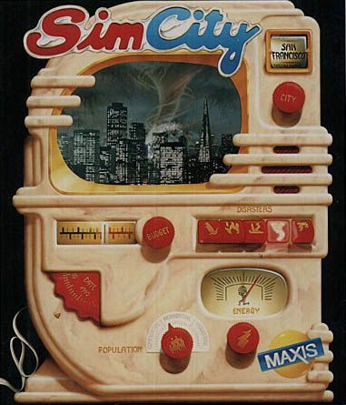 SimCity - gameplay (DOS)