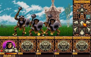 Ishar I - gameplay z poczatku gry