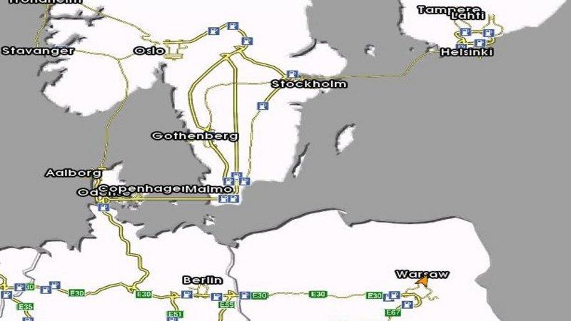 Euro Truck Simulator (PC) - Mapa Skandynawii 1.0