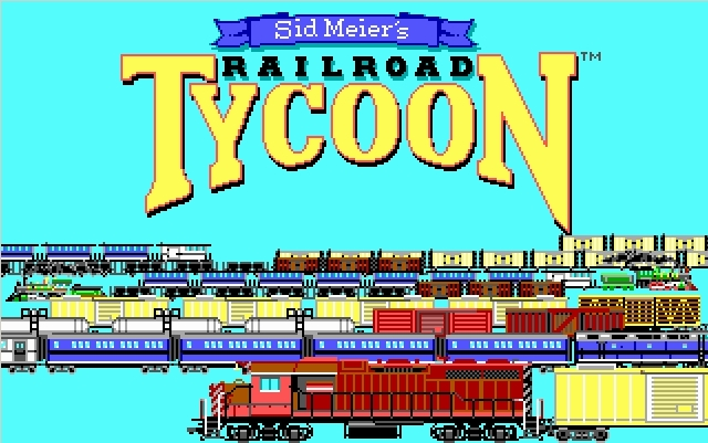 Railroad tycoon - gameplay (DOS)