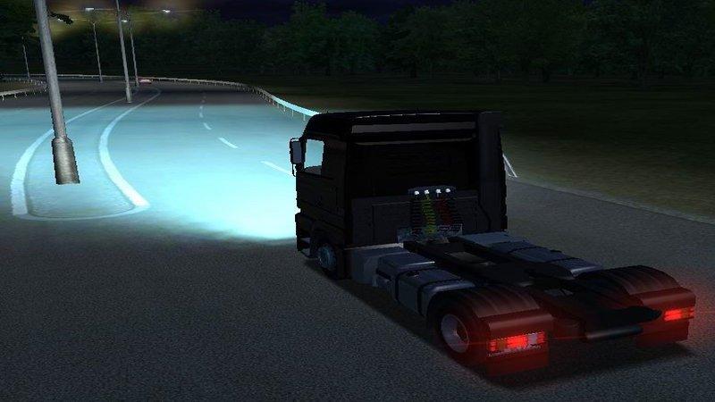 Euro Truck Simulator (PC) - Światła Xenonowe (Turkusowe)